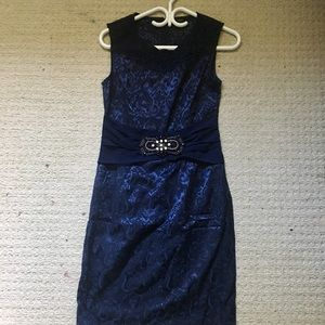 FloryDay Dark Blue Formal Dress